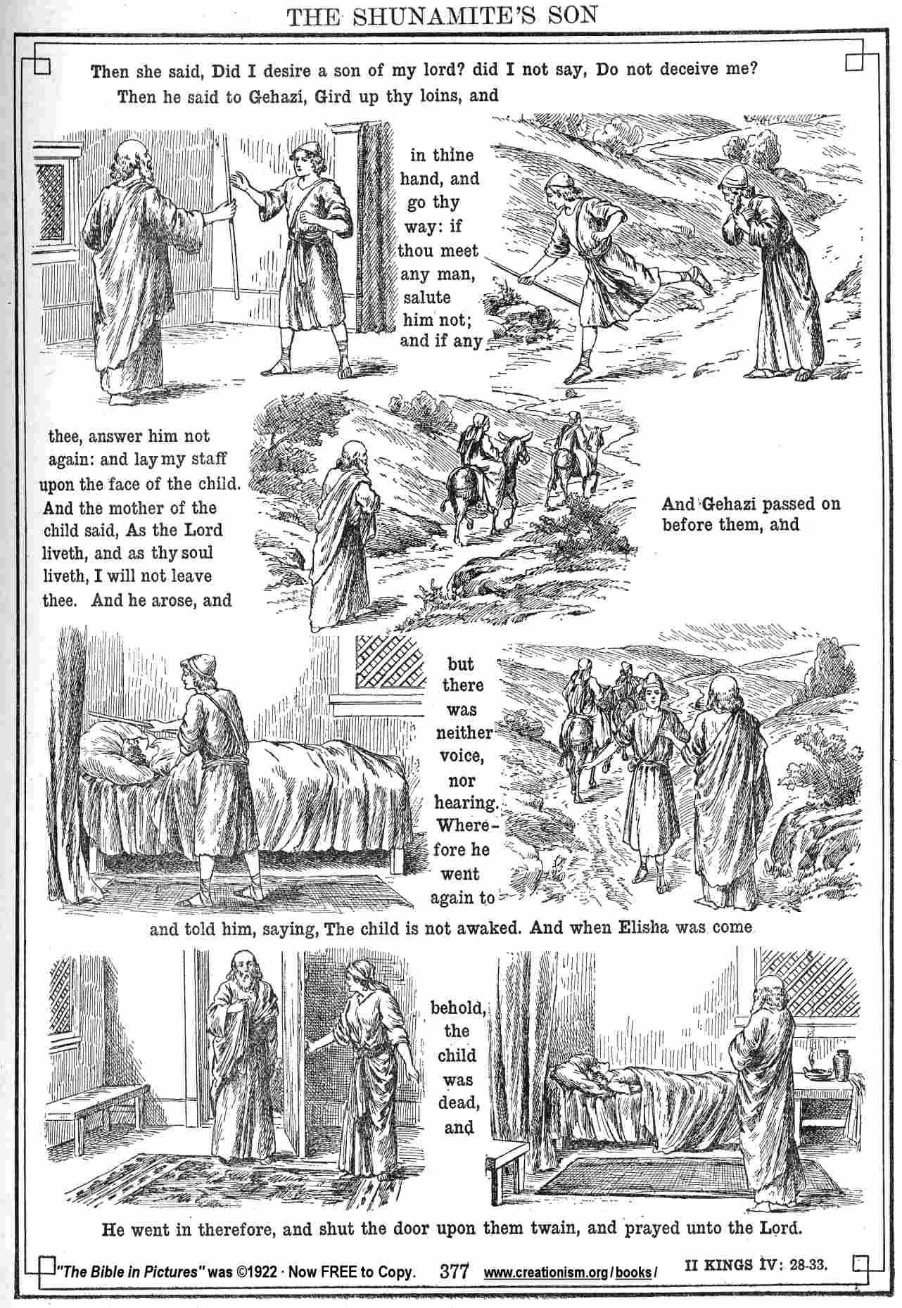 Free Coloring Pages Of Shunammite And Elisha