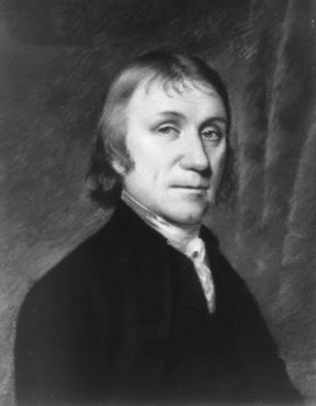 Picture of Joseph Priestly who discovered Oxygen