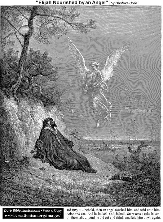 ElijahNourished by an Angel (1 Kings 19:5-6)