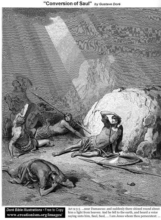 Conversion of Saul - by Gustave Doré dans immagini e testi, vAct0903Dore_ConversionOfSaul