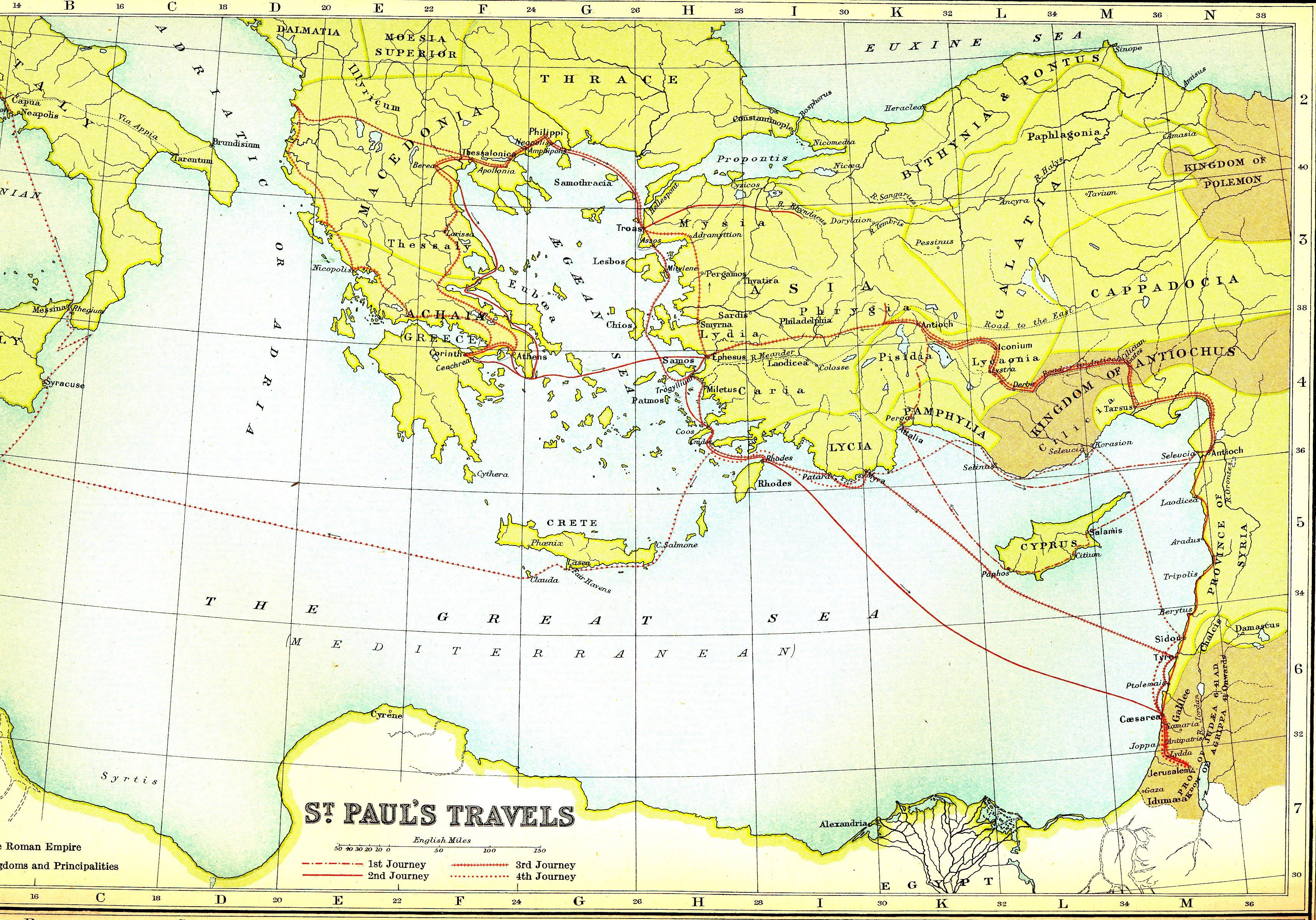 Smith Bible Atlas 1915 London